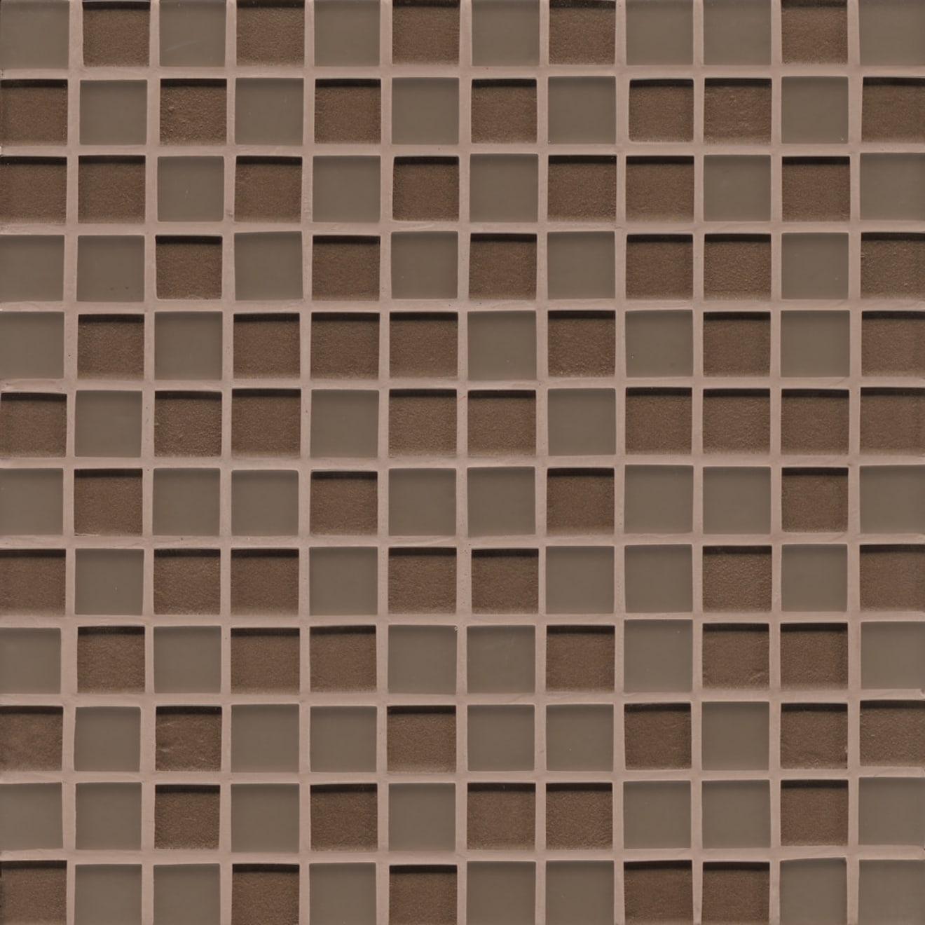 "Manhattan 1"" x 1"" Wall Mosaic in Bittersweet"
