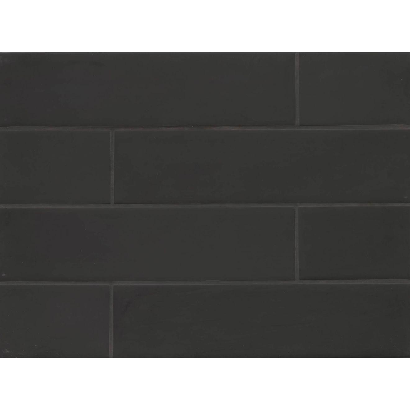 "Manhattan 4"" x 16"" Wall Tile in Midnight"
