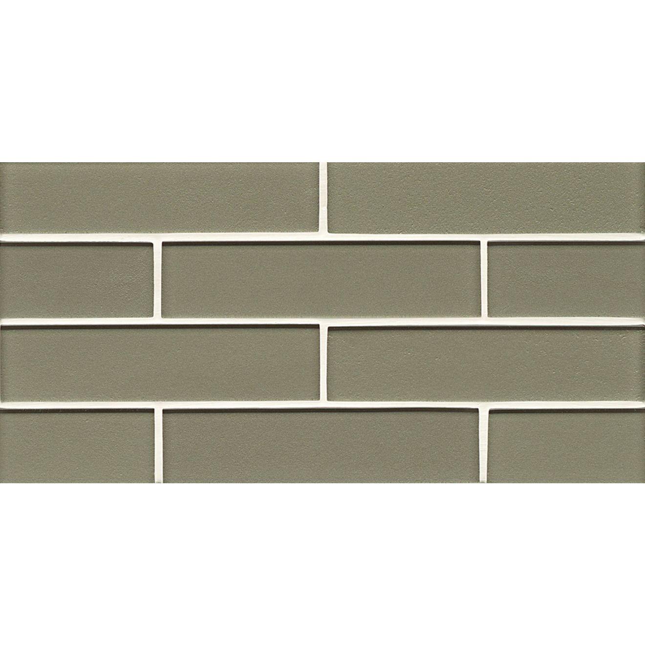 "Manhattan 2"" x 8"" Wall Mosaic in Mint"