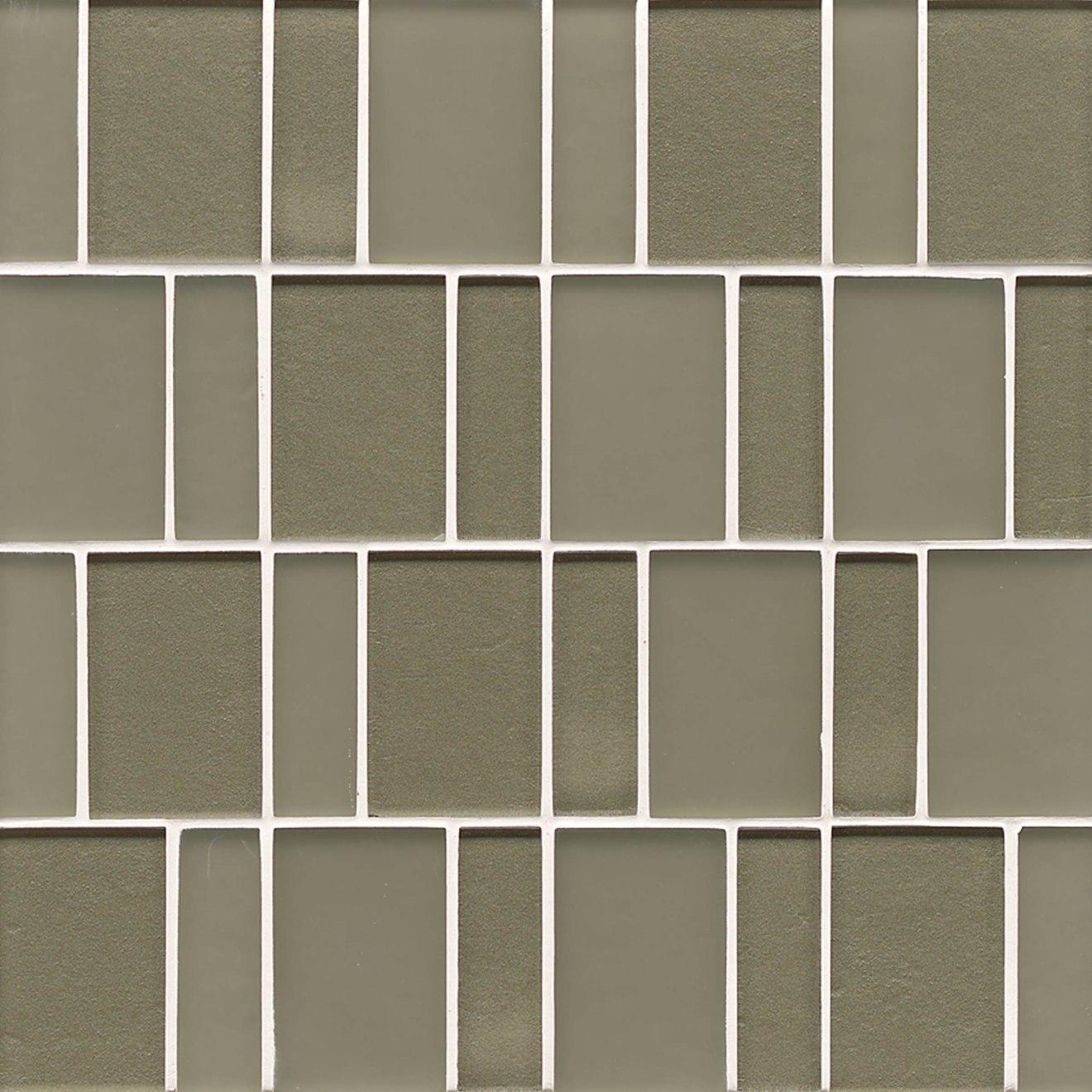 Manhattan Wall Mosaic in Mint