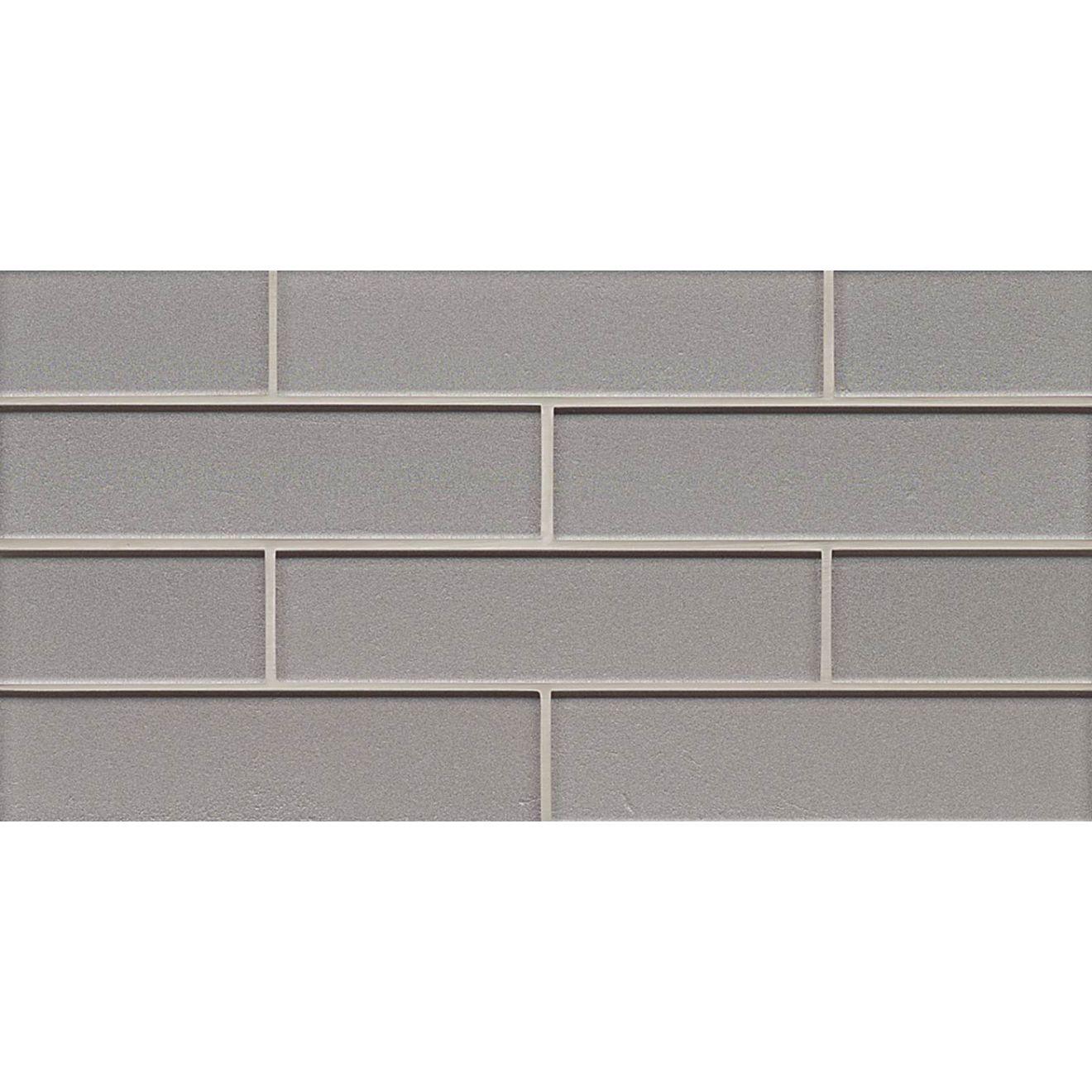 "Manhattan 2"" x 8"" Wall Mosaic in Platinum"