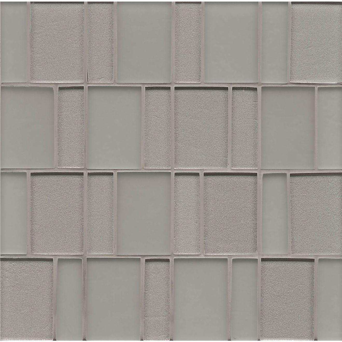 Manhattan Wall Mosaic in Platinum