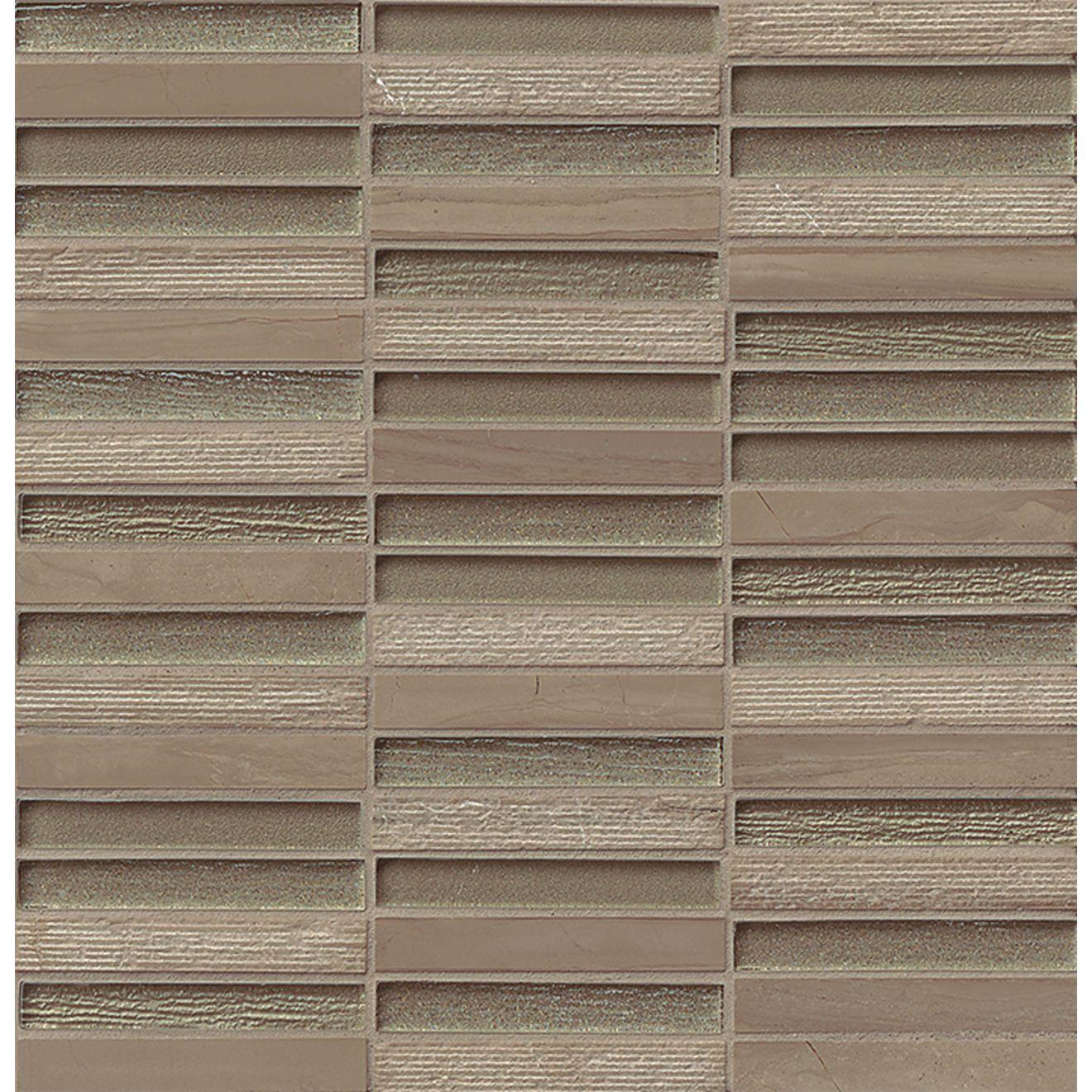 "Tessuto 1/2"" x 4"" Wall Mosaic in Taupe"