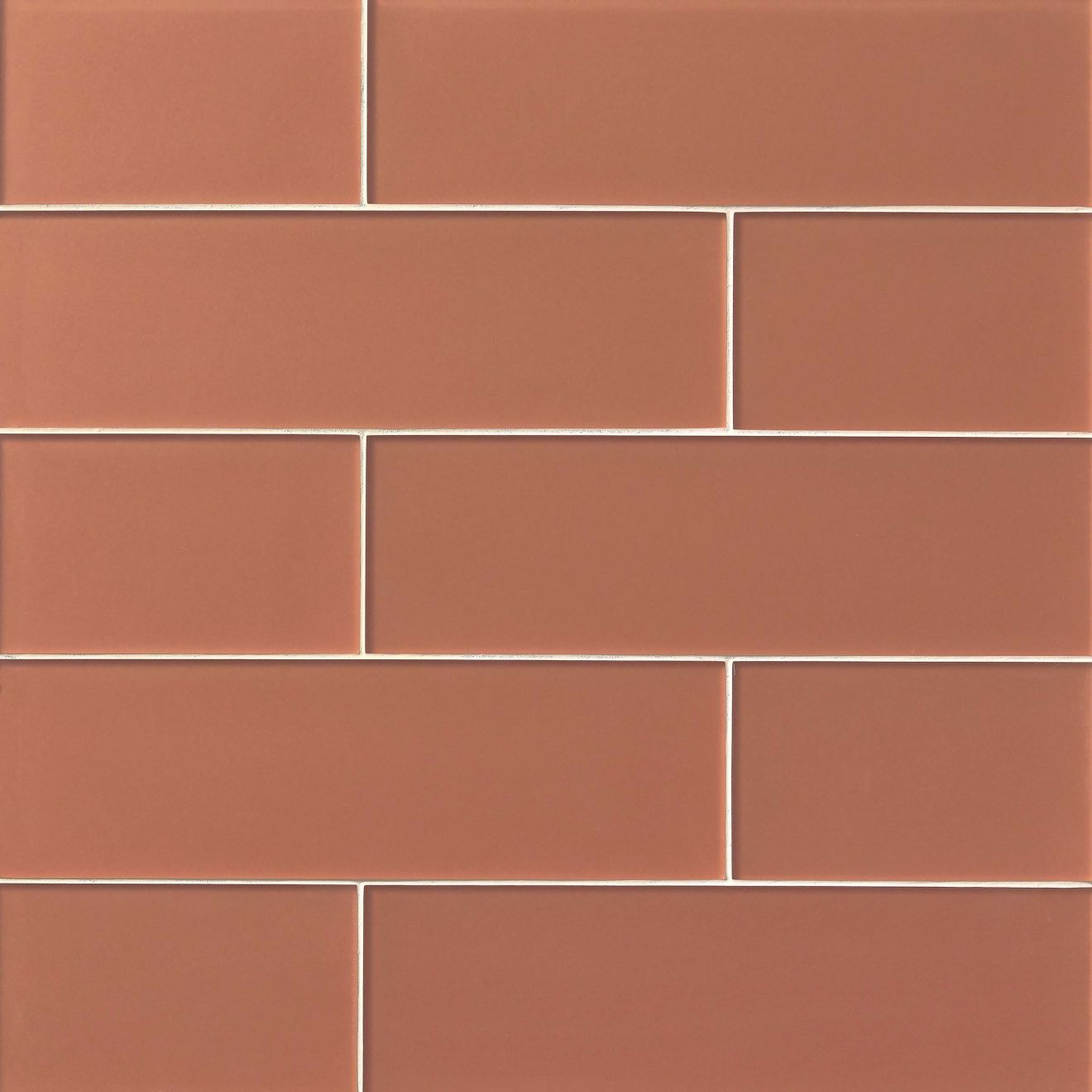 """Verve 6"""" x 20"""" Wall Tile in Coral Spice"""