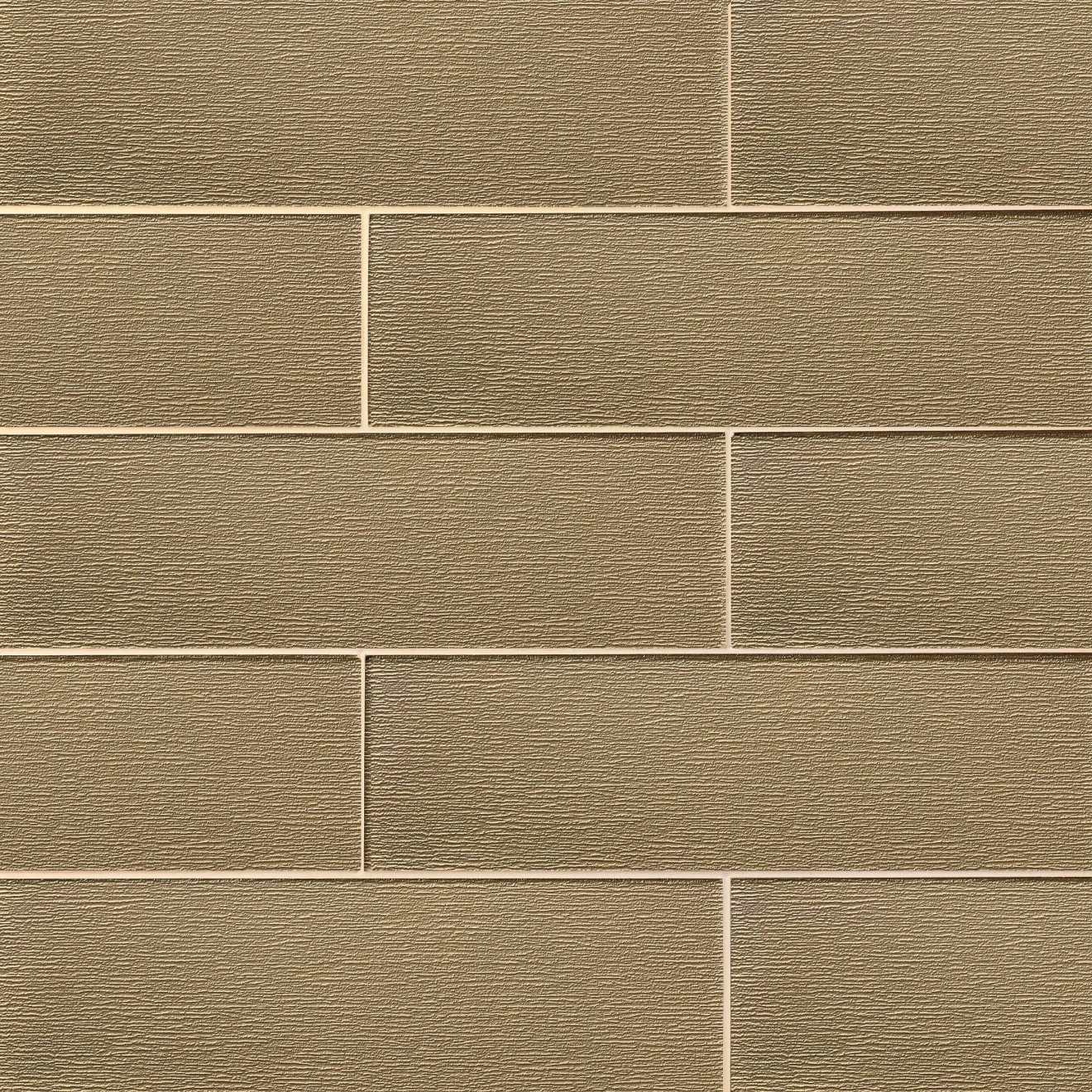 """Verve 6"""" x 20"""" Wall Tile in Golden Glimmer"""