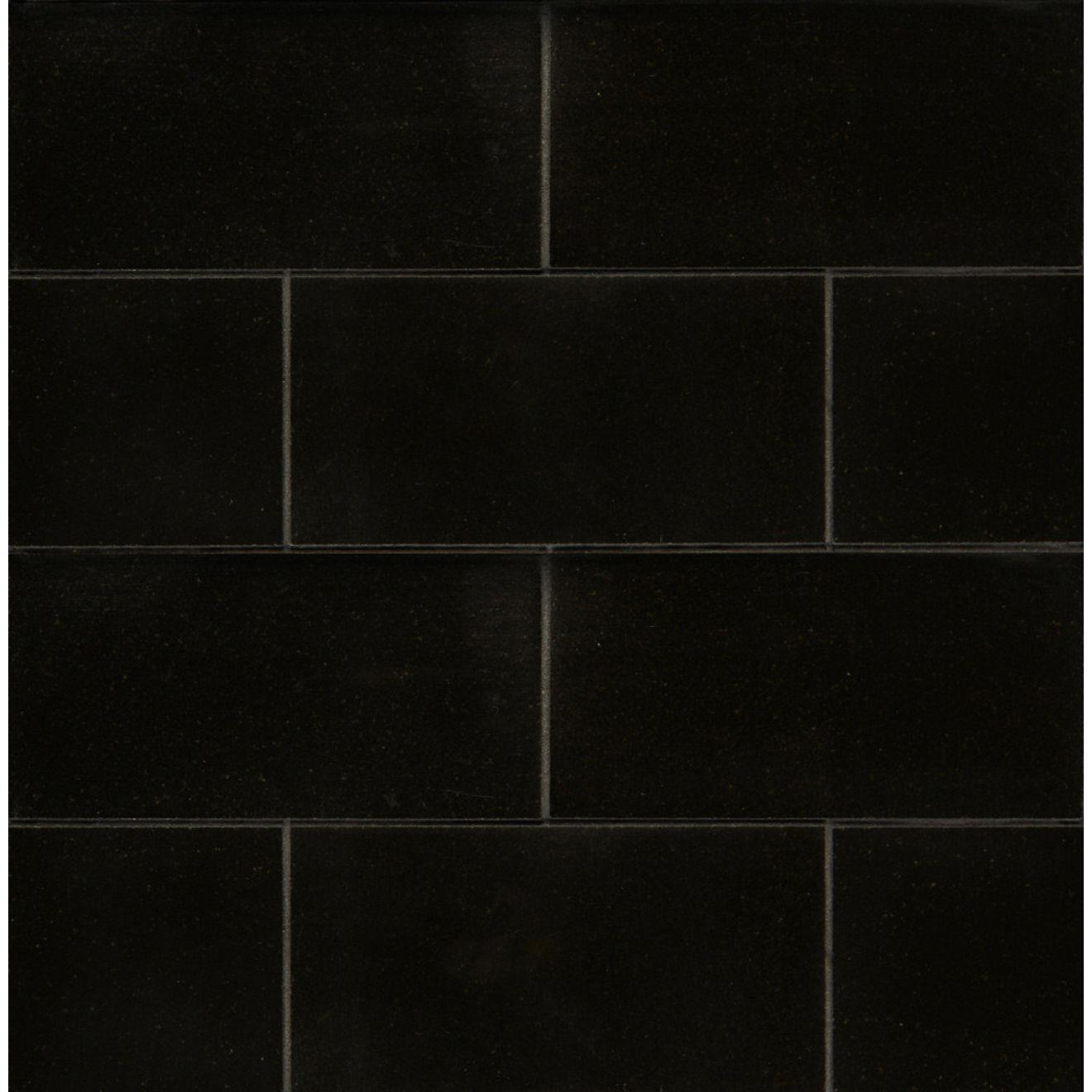 "Absolute Black 3"" x 6"" Floor & Wall Tile"