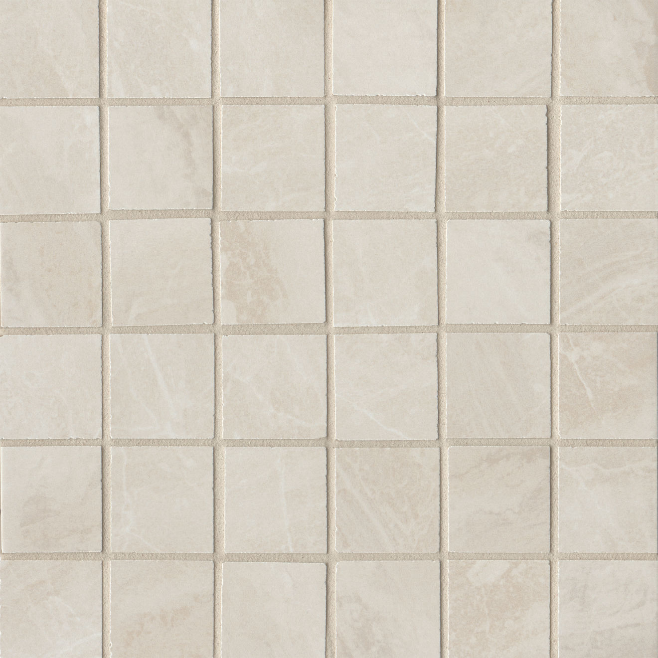 "Stone Mountain 2.0 2""x2"" Matte Porcelain Mosaic in White"