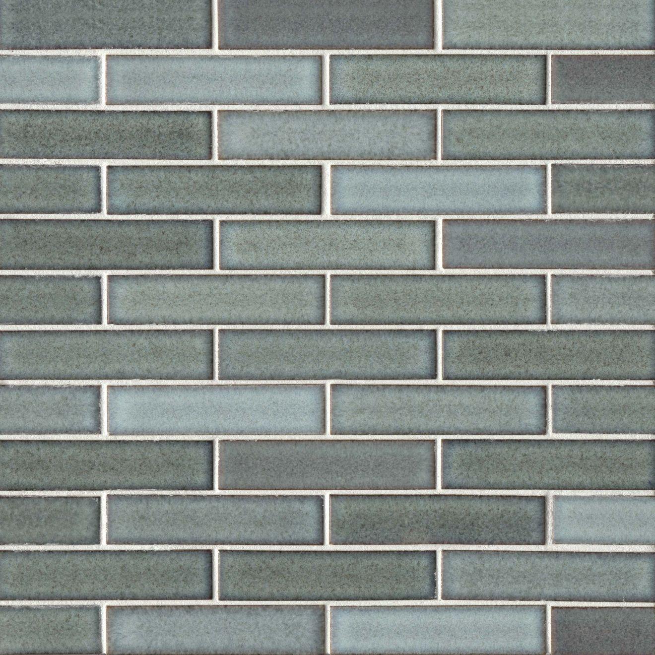 """Seni 1"""" x 4"""" Floor & Wall Mosaic in Teal"""