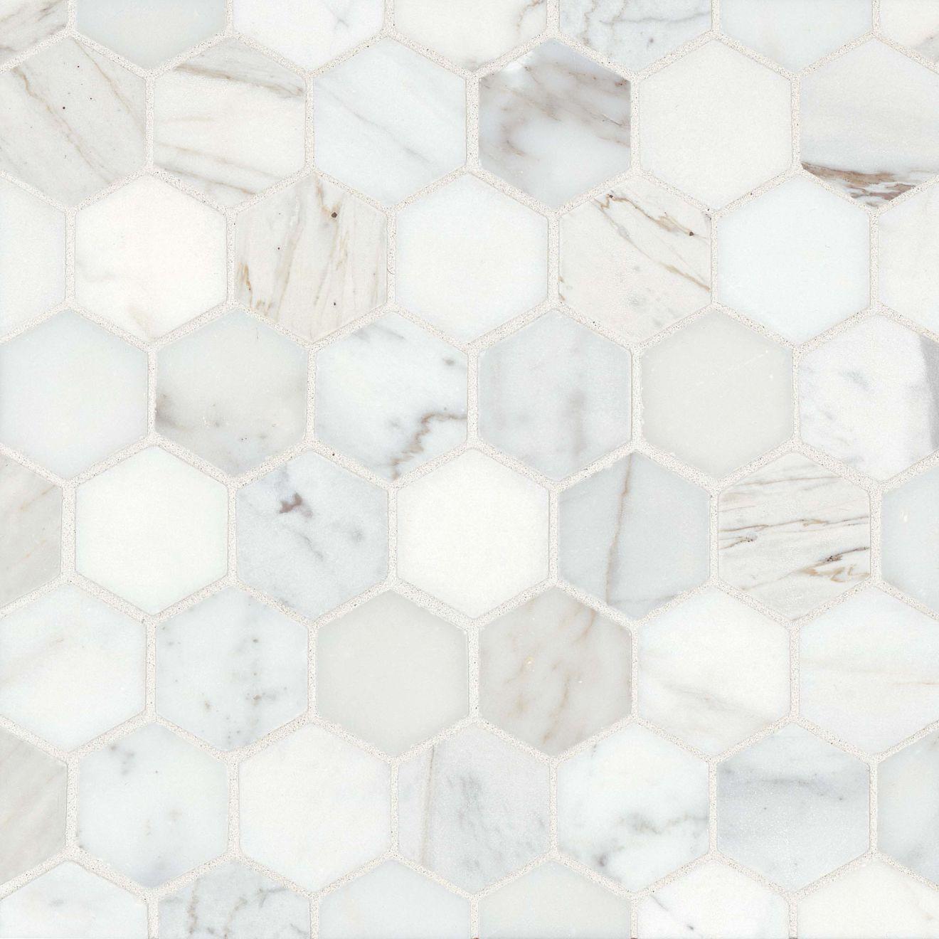 """Calacatta 2"""" x 2"""" Floor & Wall Mosaic"""