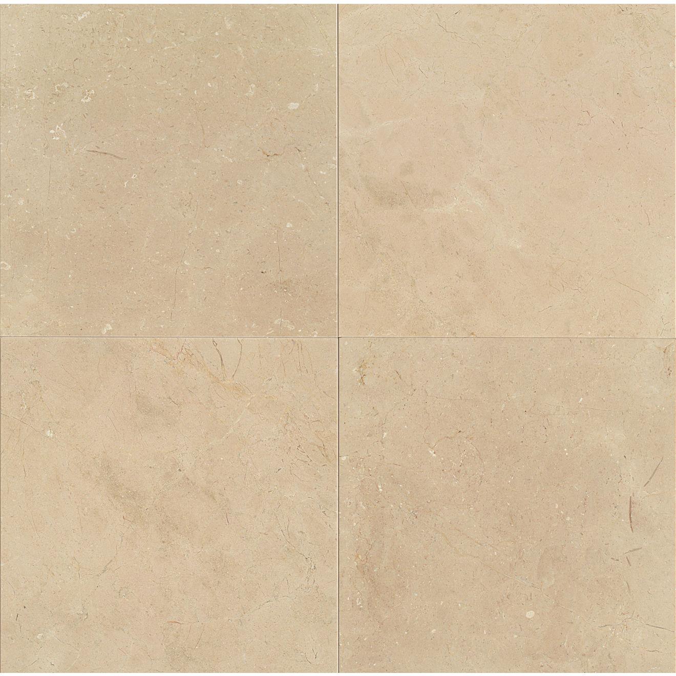 "Crema Marfil Classic 24"" x 24"" Floor & Wall Tile"