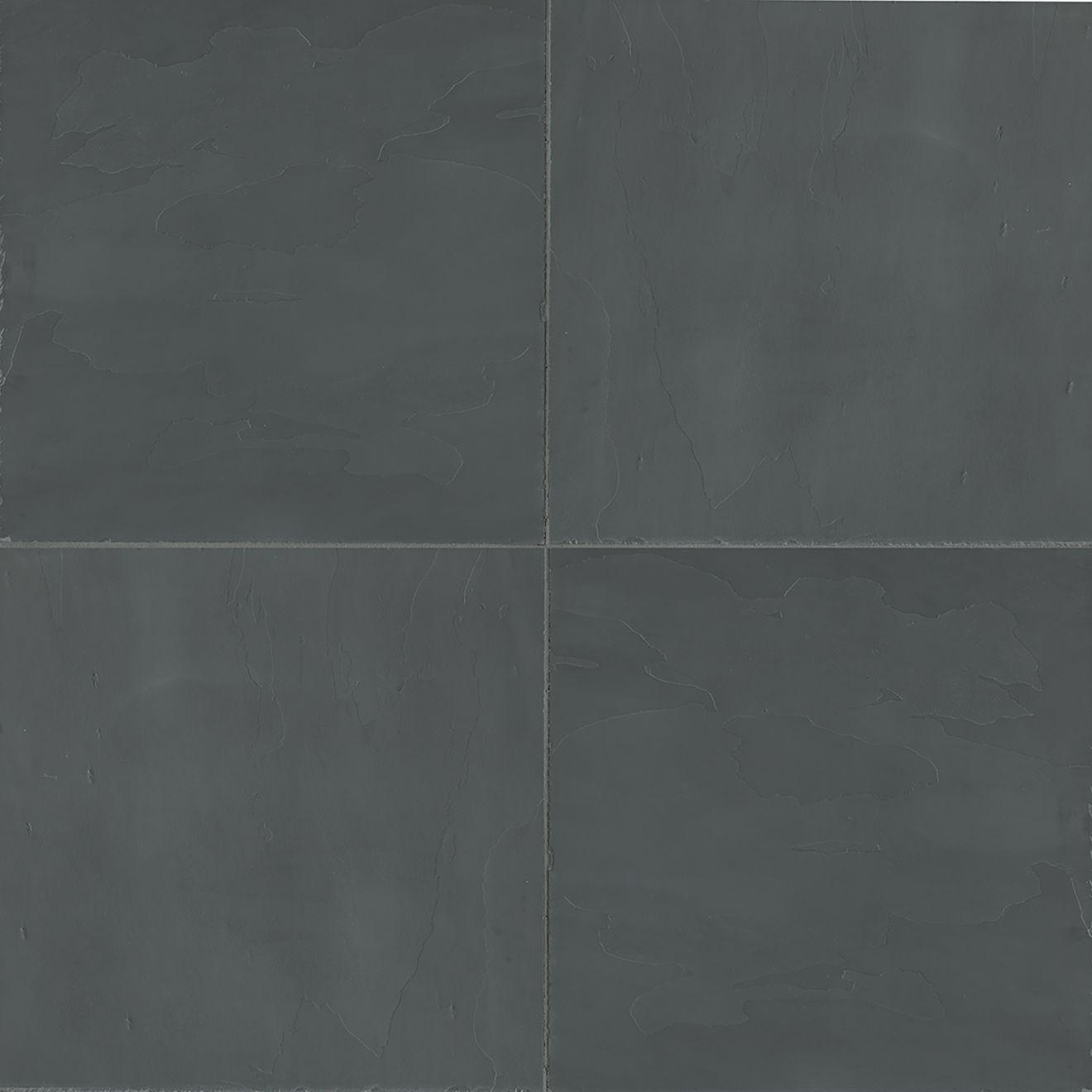 "Andhra Black 12"" x 12"" Floor & Wall Tile"