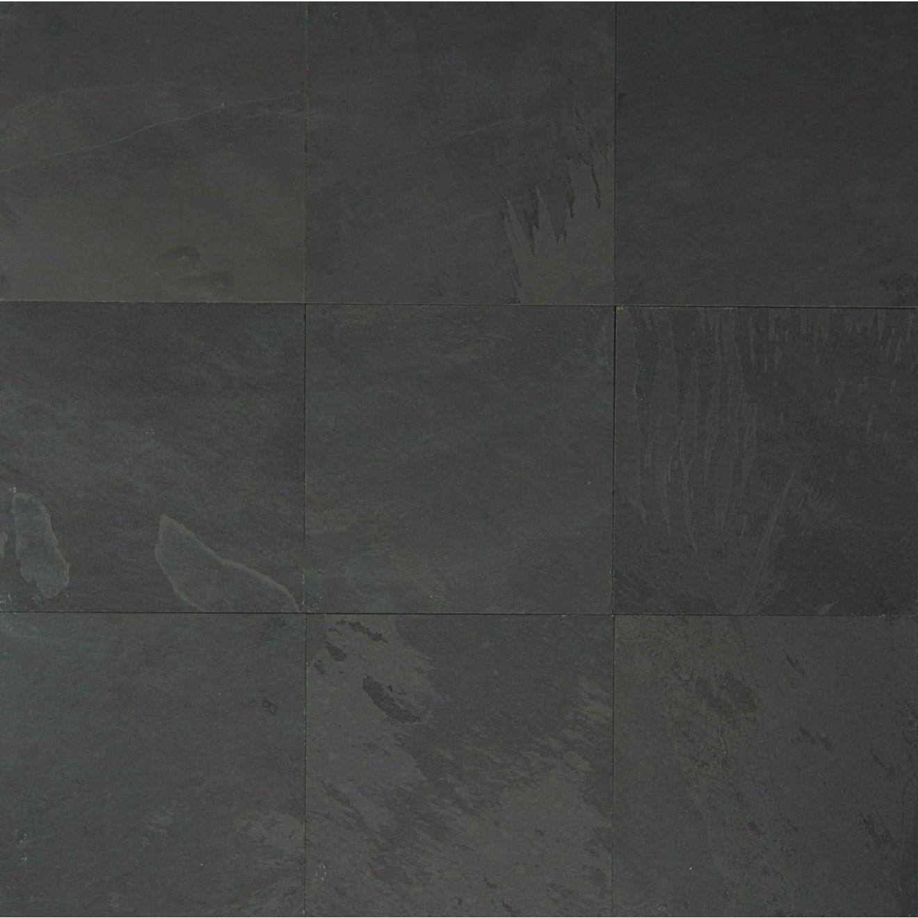 "Black Pearl 15.75"" x 15.75"" Floor & Wall Tile"