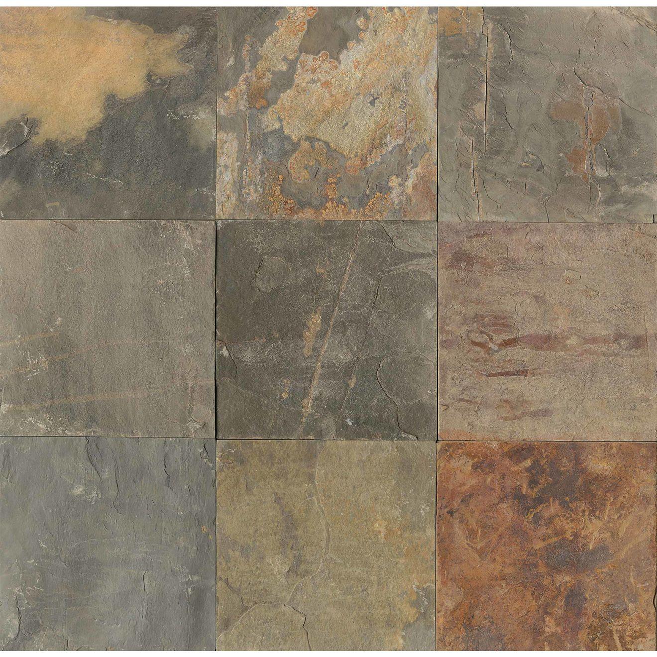 """Butterscotch 16"""" x 16"""" Floor Tile"""