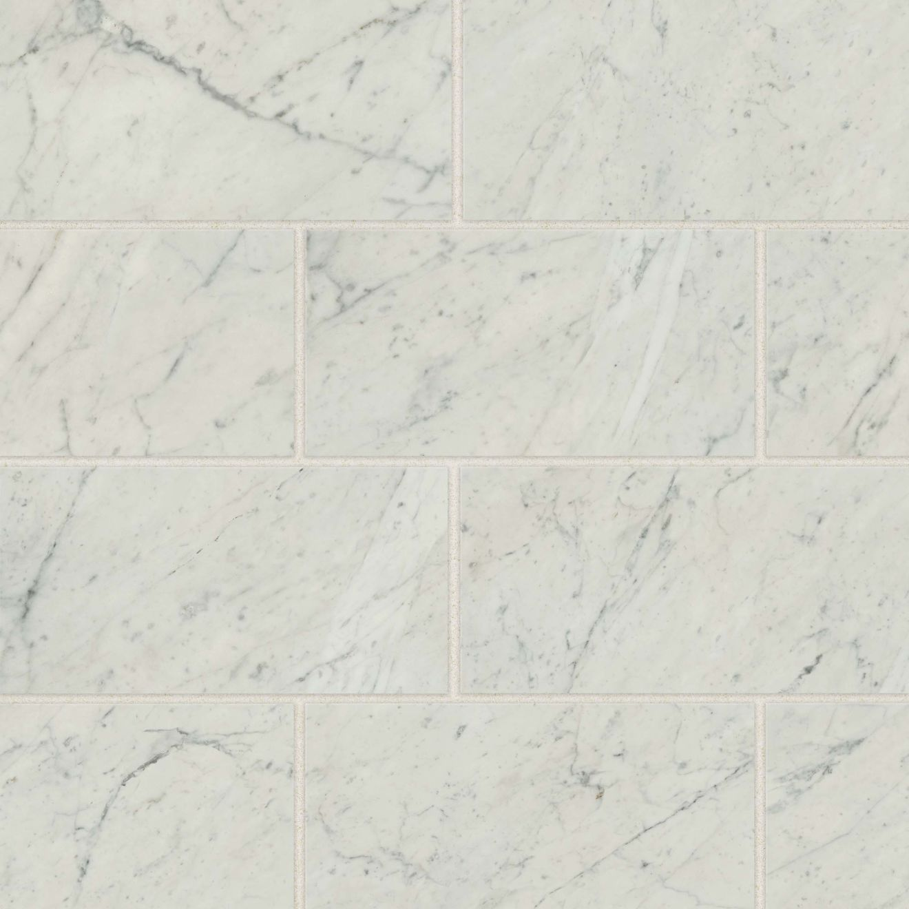 "Classic 2.0 12"" x 24"" Floor & Wall Tile in Bianco Carrara"