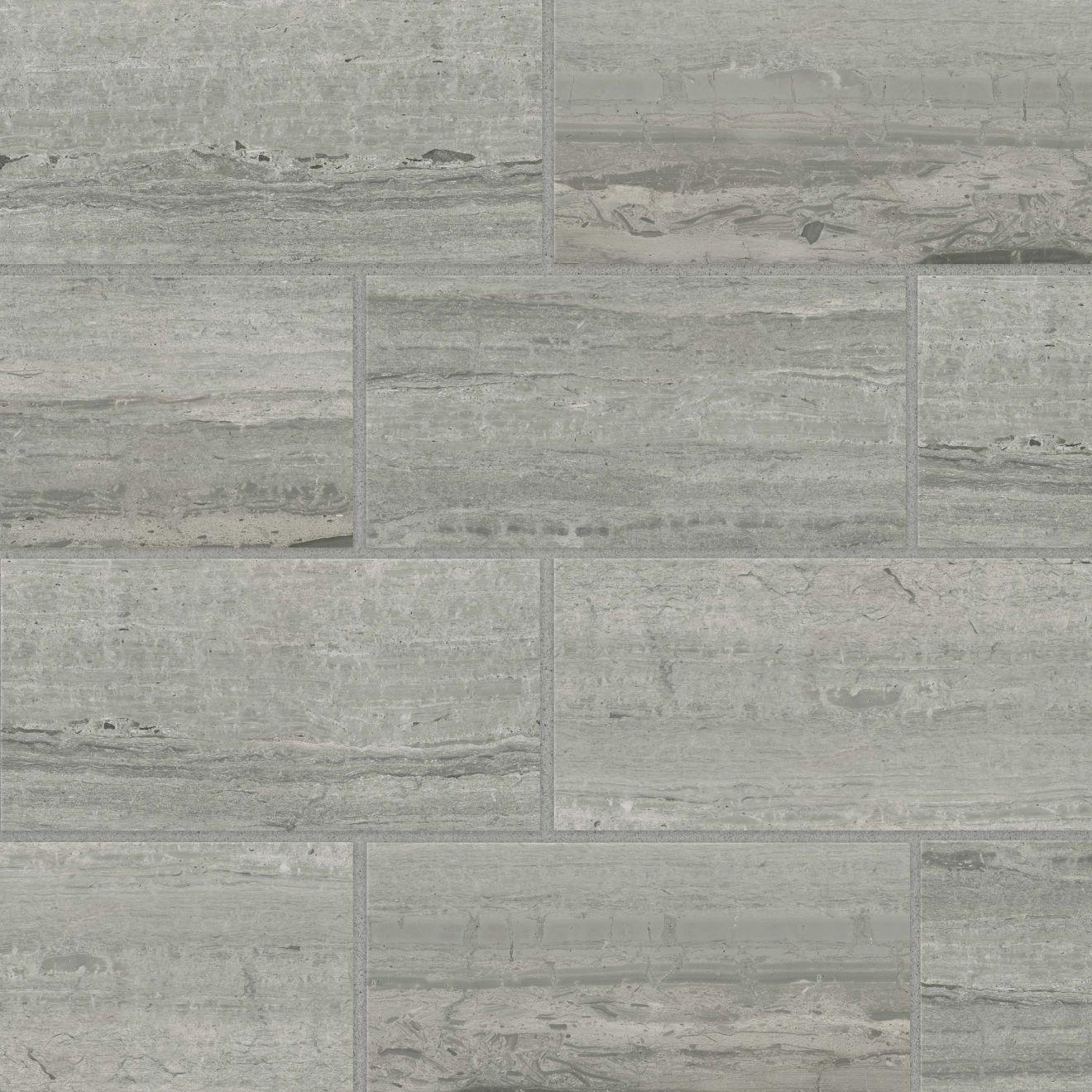 "Classic 2.0 12"" x 24"" Floor & Wall Tile in Travertino Grigio"