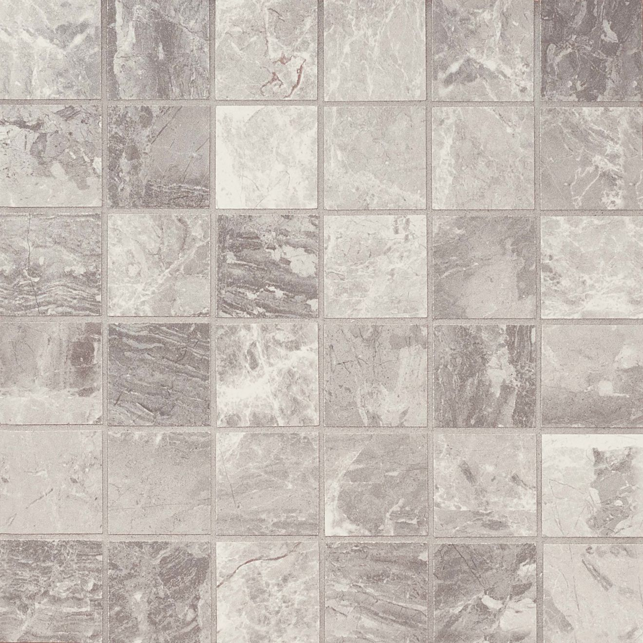 "Classic 2"" x 2"" Floor & Wall Mosaic in Bardiglietto"
