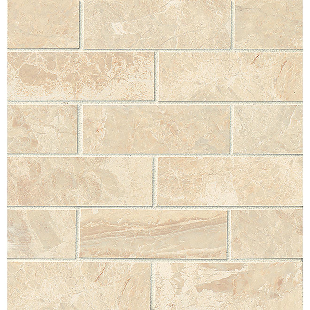 "Classic 2"" x 6"" Floor & Wall Mosaic in Cremino"