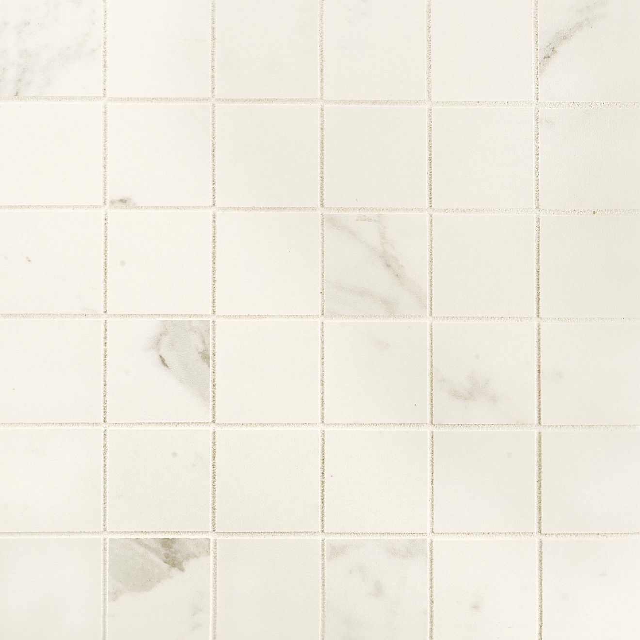 "Classic 2"" x 2"" Floor & Wall Mosaic in Statuarietto"