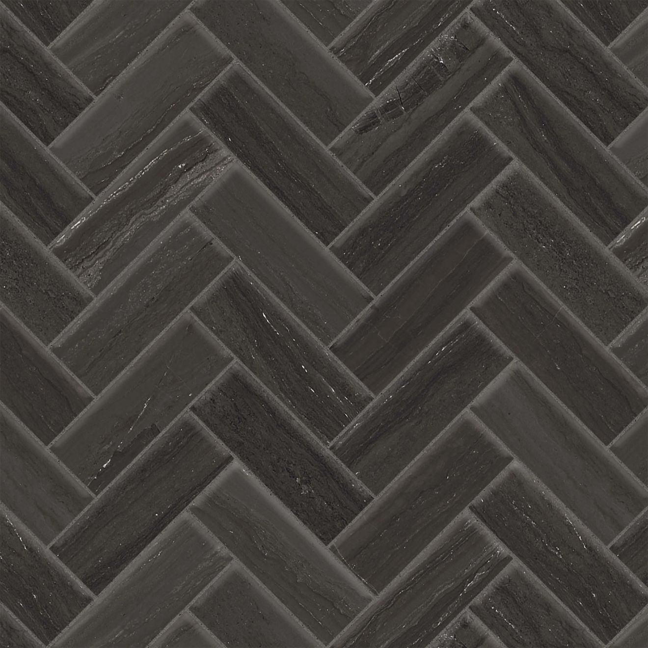 "Highland 1"" x 4"" Mosaic in Black"