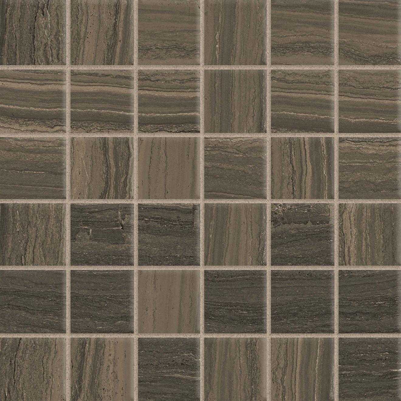 """Highland 2"""" x 2"""" Floor & Wall Mosaic in Cocoa"""