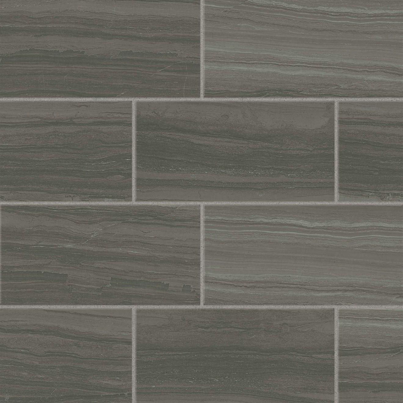 "Highland 12"" x 24"" Floor & Wall Tile in Dark Greige"