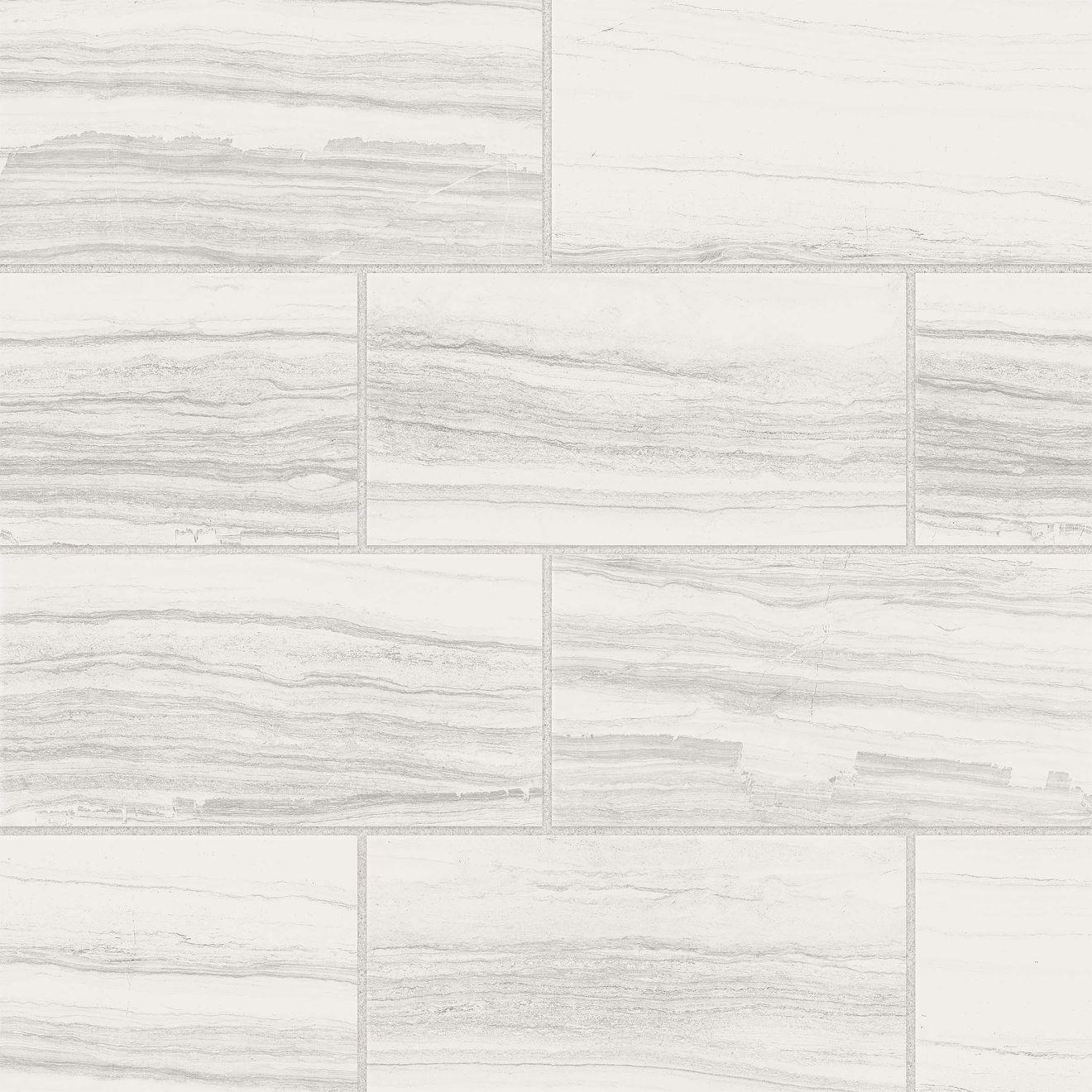 "Highland 12"" x 24"" Floor & Wall Tile in White"