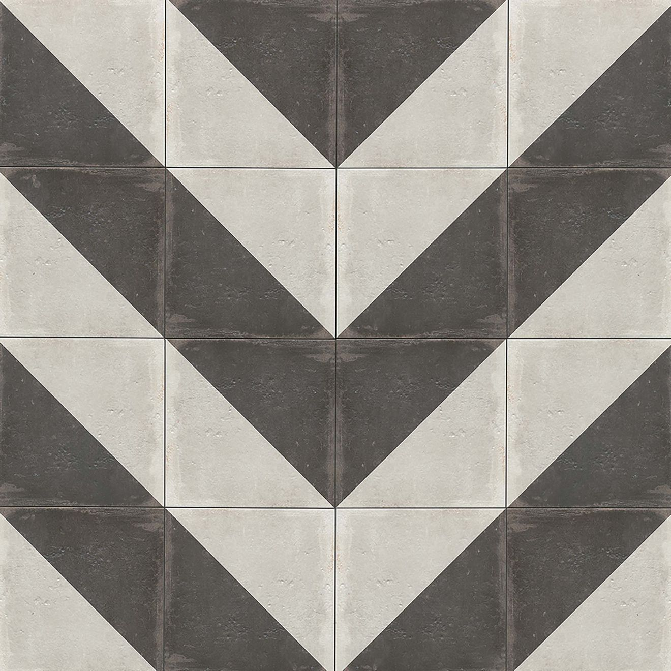 "Palazzo 12"" x 12"" Decorative Tile in Castle Graphite Villa"