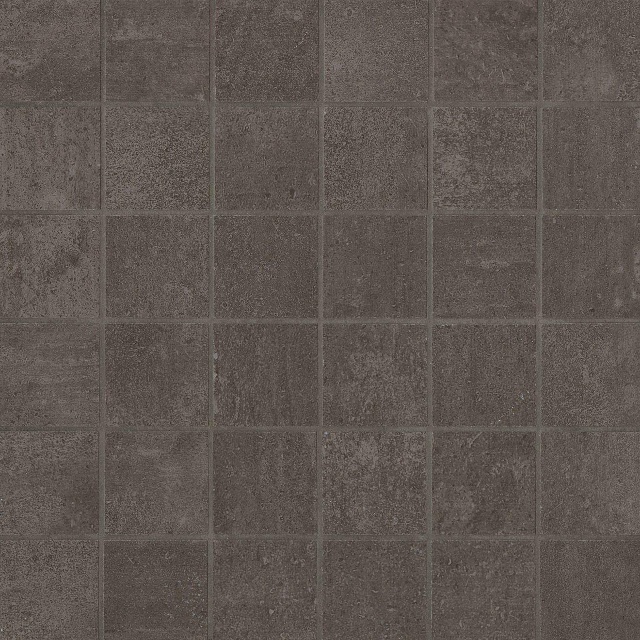 "Simply Modern 2"" x 2"" Floor & Wall Mosaic in Coffee"