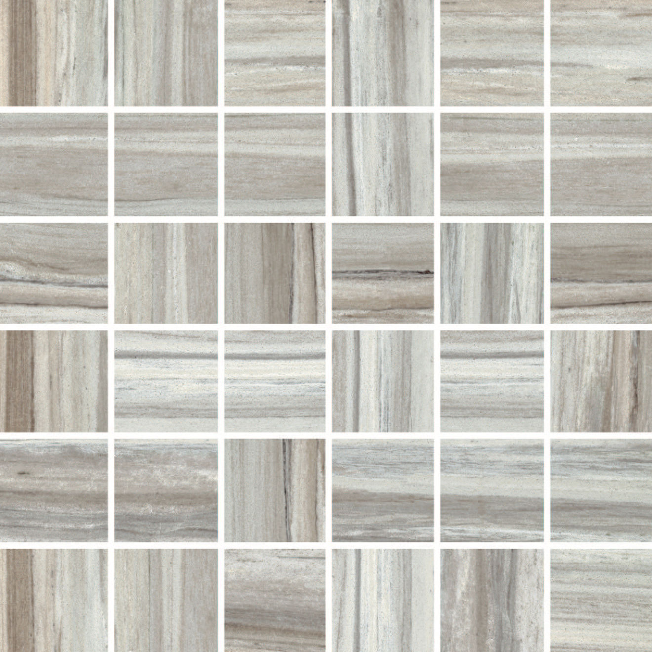 "Zebrino 2"" x 2"" Floor & Wall Mosaic in Bluette"