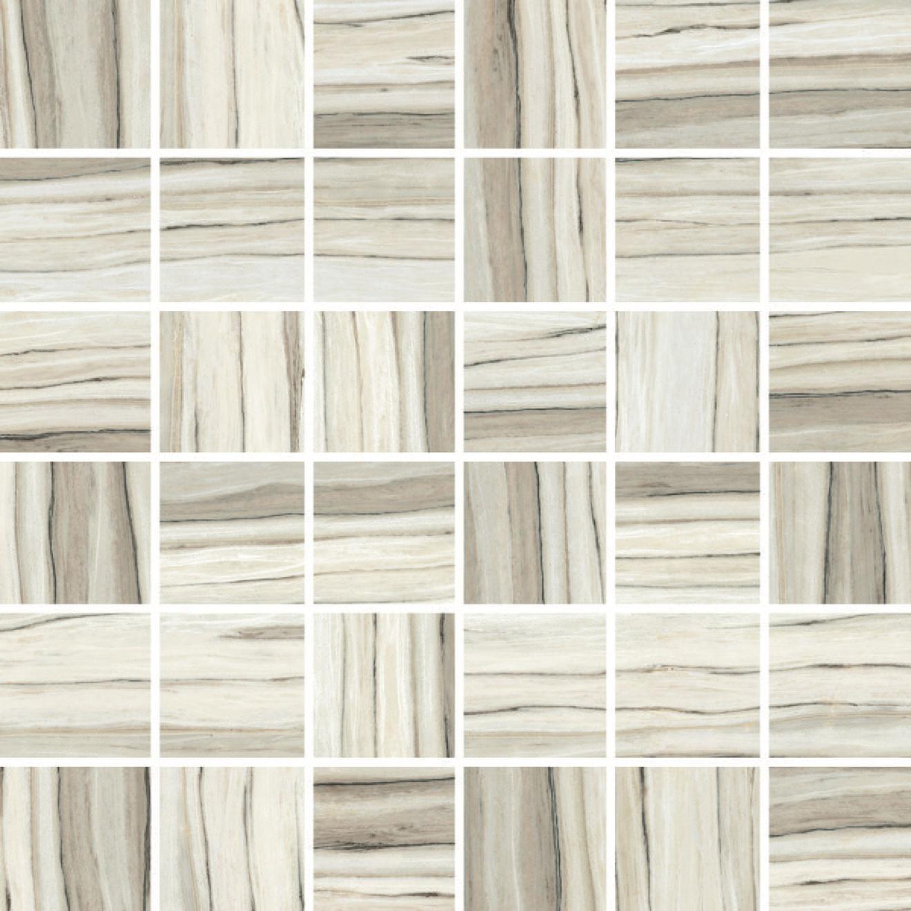 "Zebrino 2"" x 2"" Floor & Wall Mosaic in Classico"