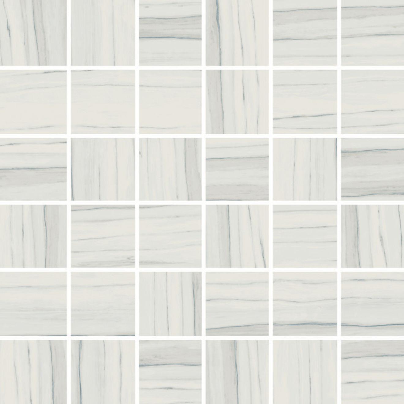 """Zebrino 2"""" x 2"""" Floor & Wall Mosaic in Michelangelo"""