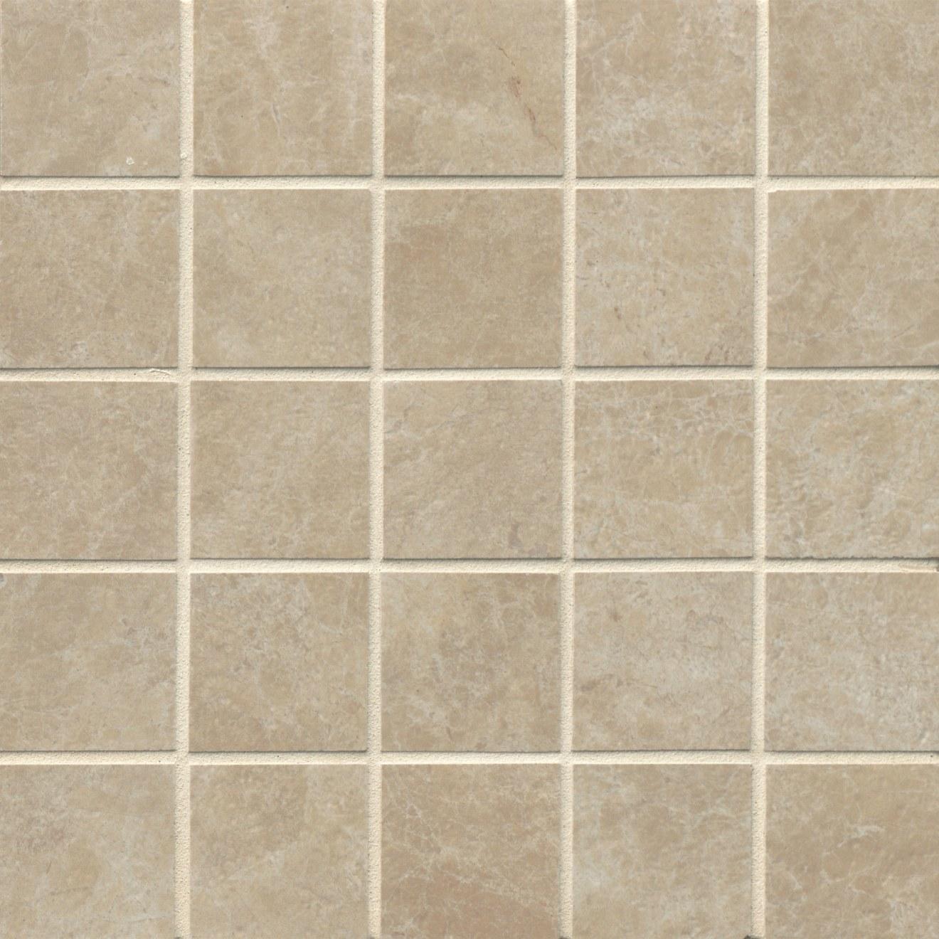 "Indiana Stone 2"" x 2"" Floor & Wall Mosaic in Beige"