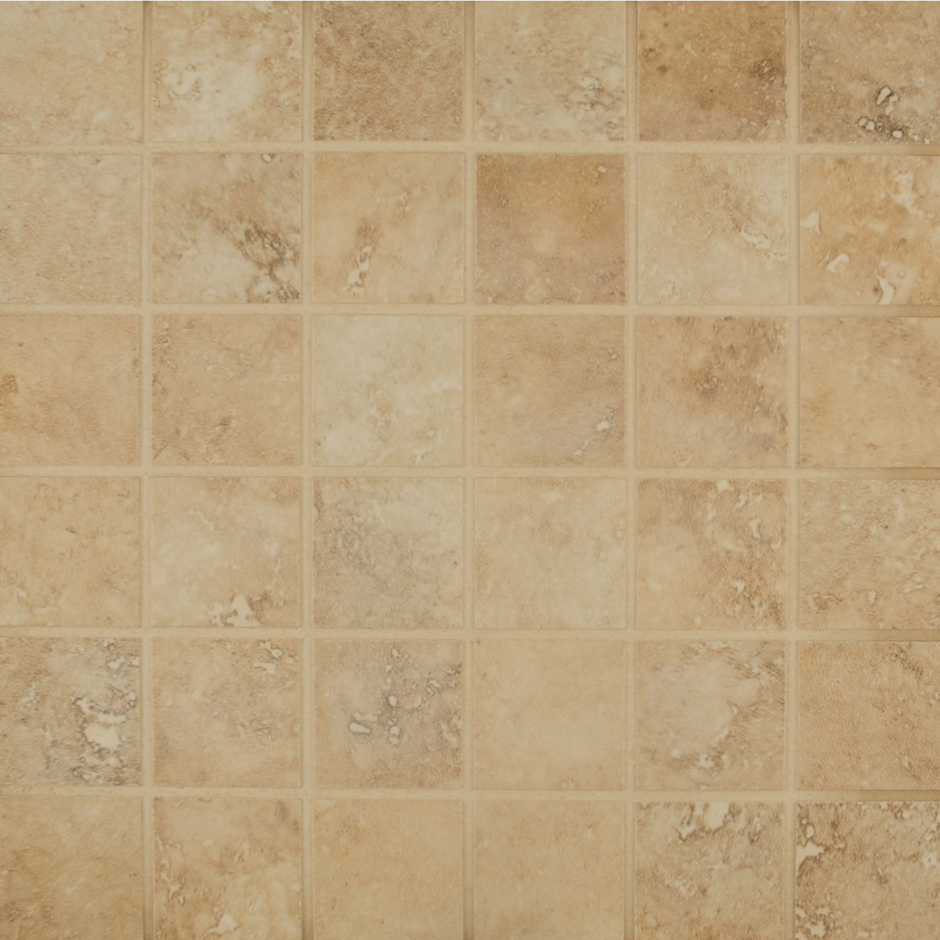"""Roma 2""""x2"""" Porcelain Mosaic in Camel"""