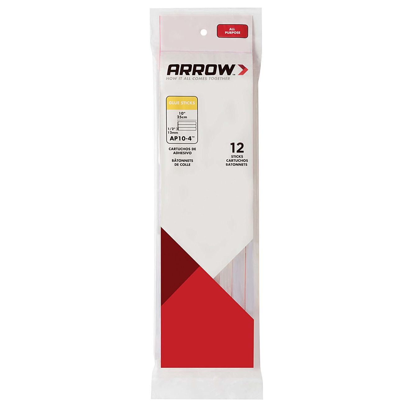 Arrow 4 oz. All-Purpose Clear Glue Sticks (12-Pack)