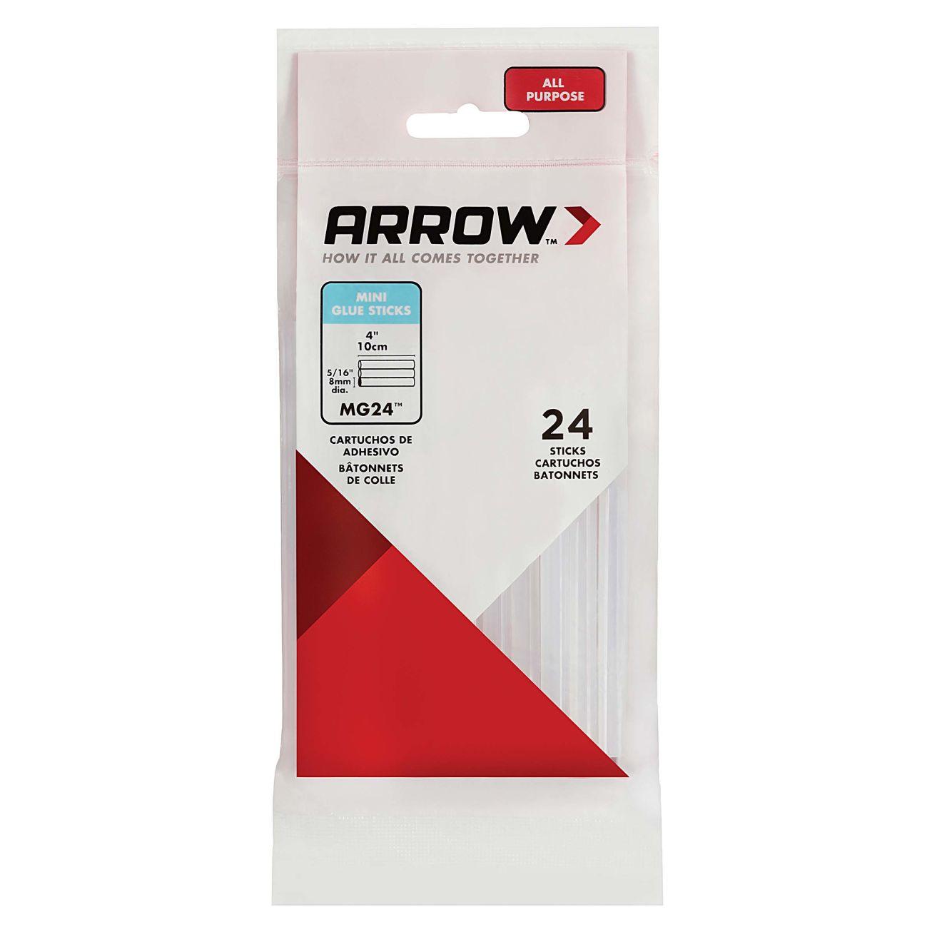 Arrow 2 oz. All-Purpose Clear Mini Glue Sticks (24-Pack)