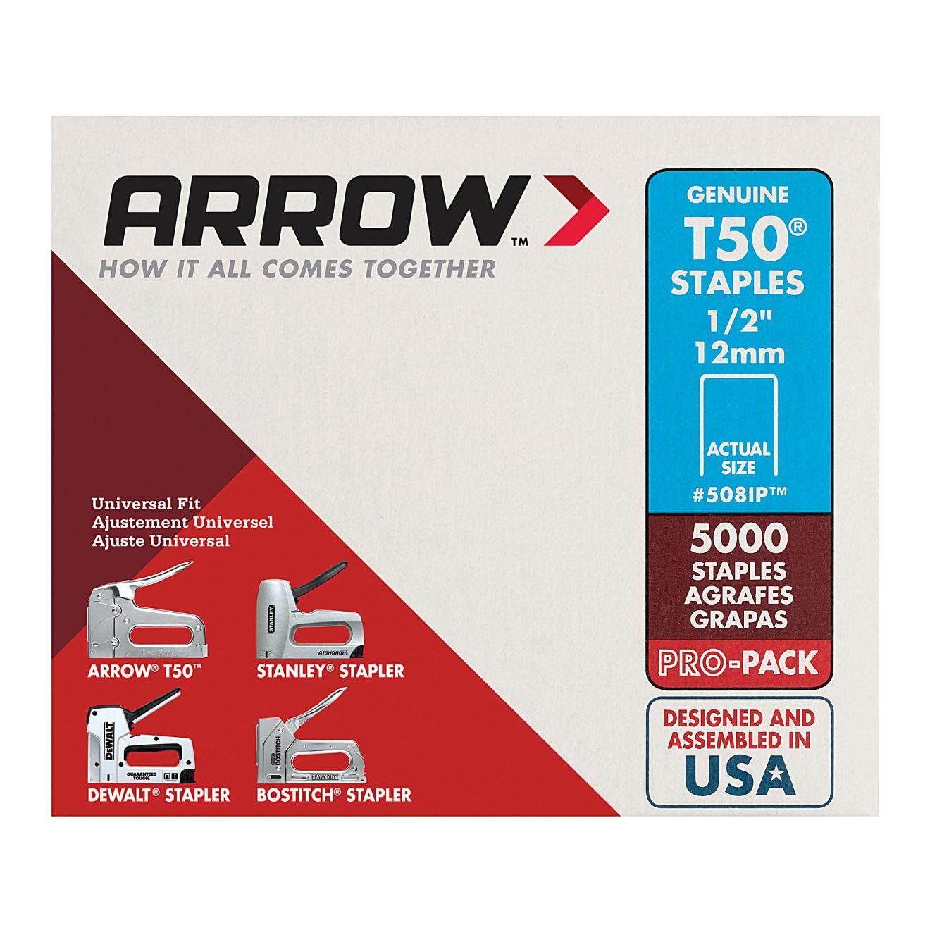 Arrow T50 1/2 in. Staples (5000-Pack)