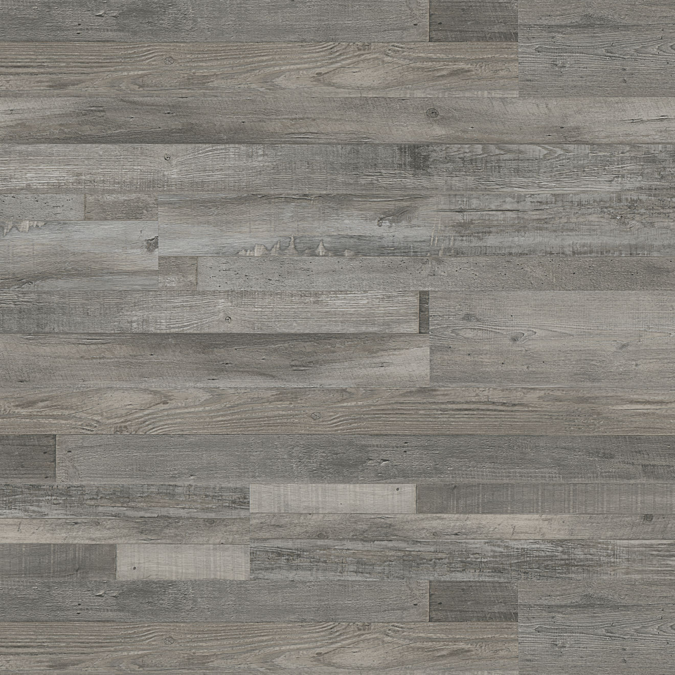 "Madera 7"" x 48"" Luxury SPC Vinyl Flooring in Silver Oak"