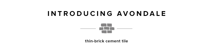 Avondale thin brick cement tile