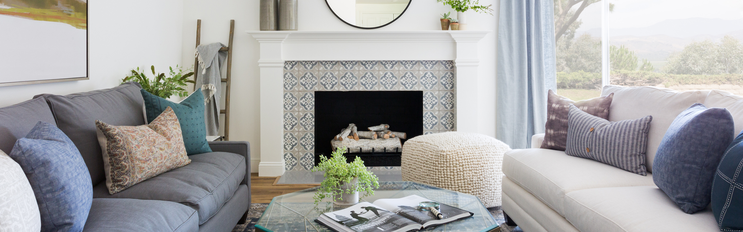 Hot Fireplace Tile Trends - Enchante porcelain tile in Charm