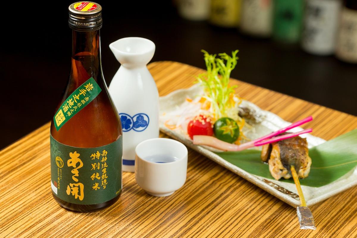 鹽烤秋刀捲 x あさ開 南部流生酛造り特別純米酒