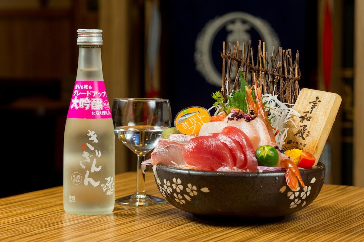 特選生魚片 x 麒麟山 大吟釀生酒
