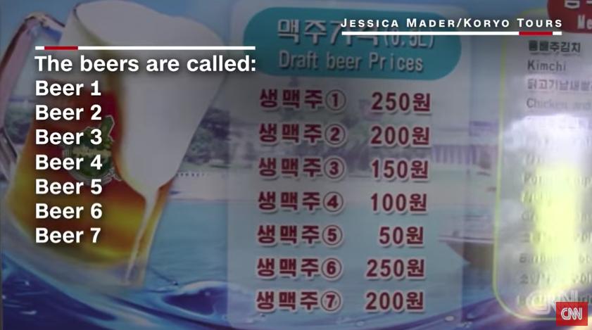 北韓啤酒節價格