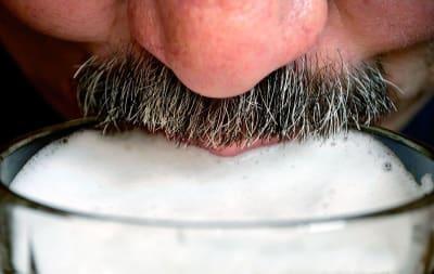 Mustache and foamy beer