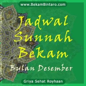 Jadwal Sunnah Berbekam Bulan Desember