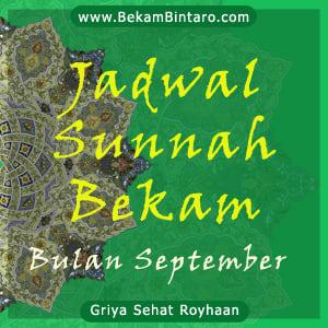 Jadwal Sunnah Bekam Bulan September Tahun Ini