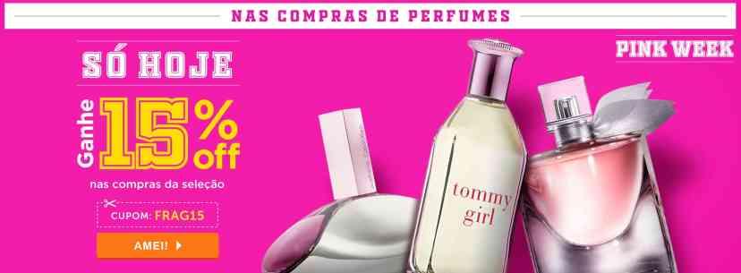 Perfume: Ganhe 15% off nas compras da selação