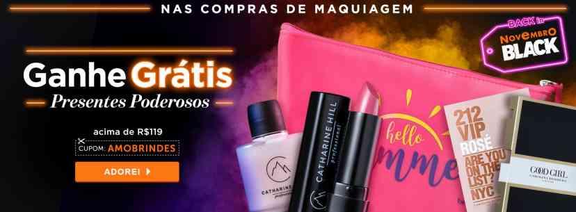 Maquiagem: Ganhe Nécessaire + 4 brindes acima de R$119