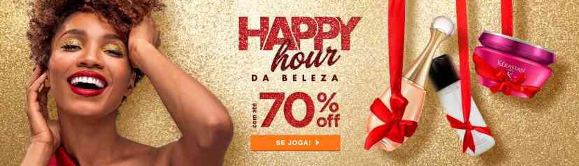 Home: Principal: Happy Hour da beleza com até 70% off