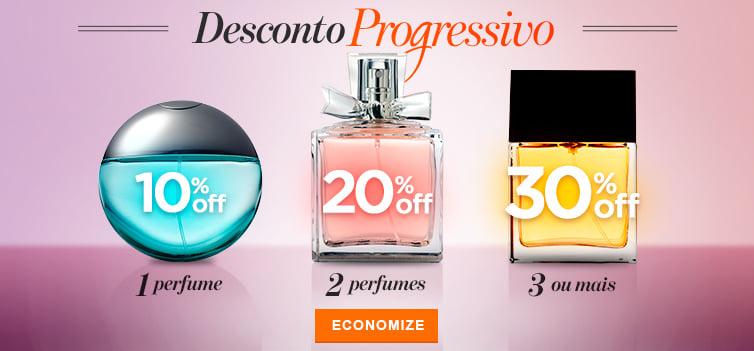 Perfumes 1: desconto progressivo