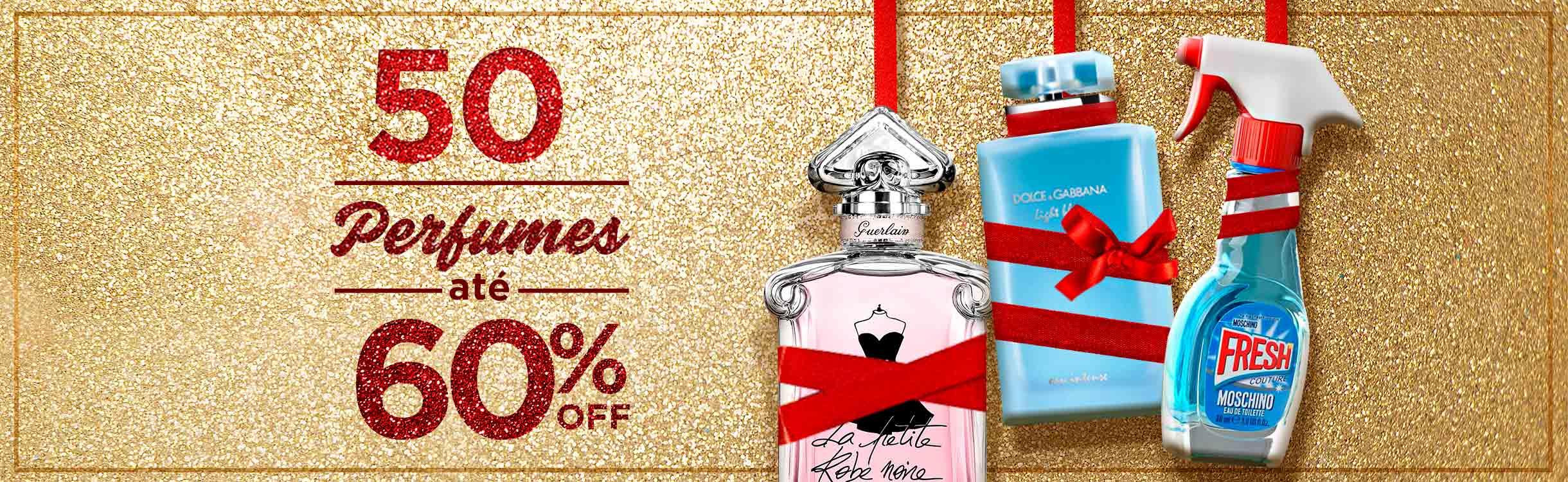 Perfumes até 60%off